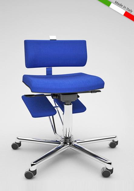 Sedia da ufficio ergonomica komfortchair per il mal di schiena for Sedia ufficio ginocchia